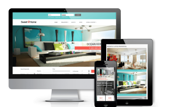 Joomla Template: Sweet Home - Real Estate Joomla template