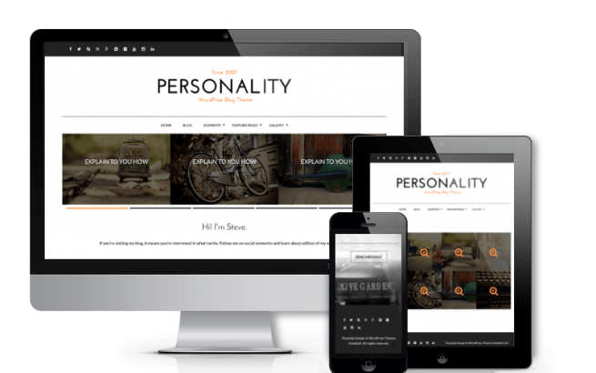 Wordpress Theme: Personality - WordPress Personal Blog Theme