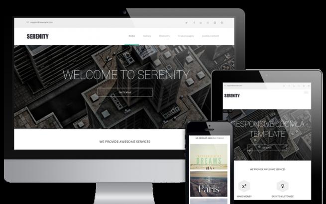 Wordpress Theme: Serenity - Wordpress  Business and Portfolio theme