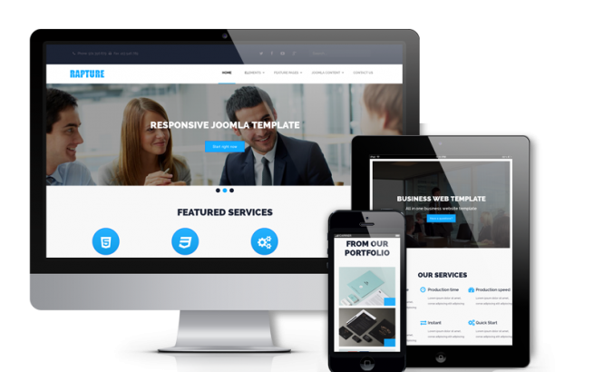 Joomla Template: Rapture - Joomla Business Template