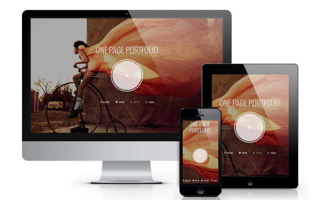 Wordpress Theme: Photographer - Wordpress  One Page Theme