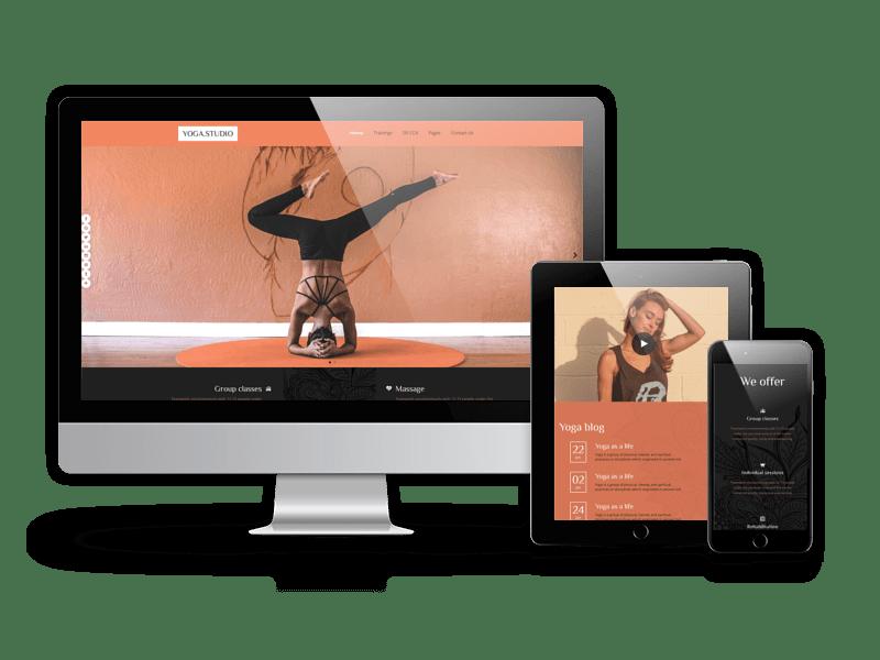 Joomla Template: Yoga Studio - Joomla sport template