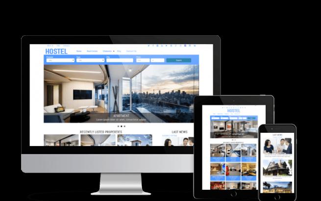 Drupal Theme: Hostel - Free Drupal Real Estate Theme