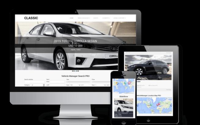 Joomla Template: Classic - Car Joomla Template