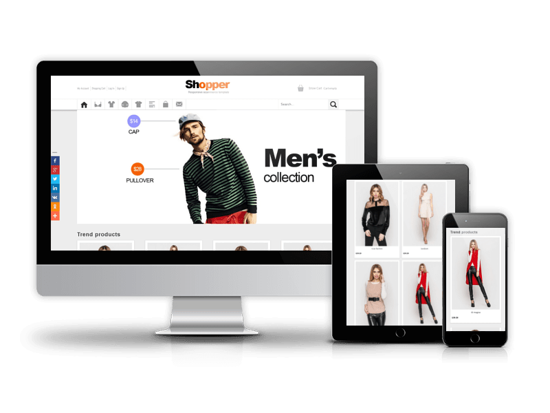 Joomla Template: Shopper - Joomla Virtuemart Template