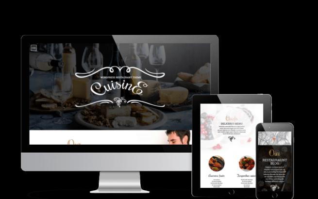 Wordpress Theme: Cuisine WordPress restaurant theme