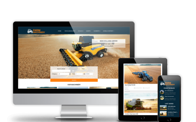 Joomla Template: Farm Machinery - Agriculture Joomla Template