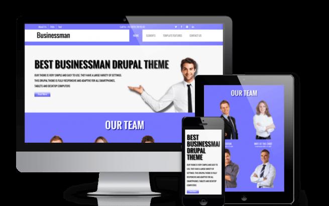 Drupal Theme: Businessman - Free Corporate  Drupal theme