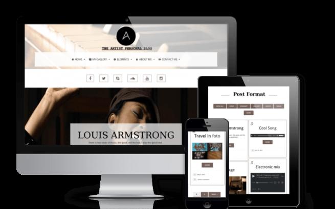Wordpress Theme: Artist - Personal Blog Wordpress Theme