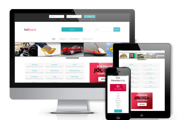 Joomla Template: Ad Board - Classified Joomla template