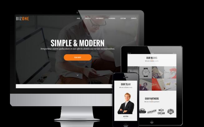 Joomla Template: BizOne - Joomla One-page Template