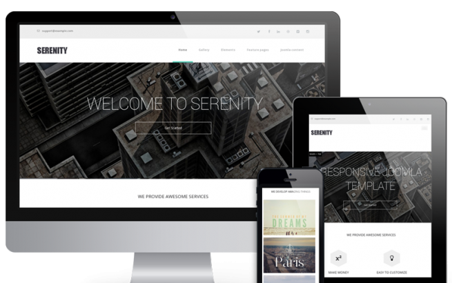 Joomla Template: Serenity - Modern Website Template