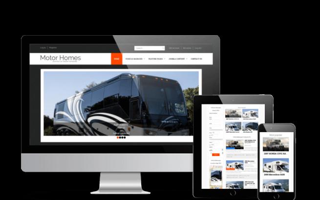 Joomla Template: Motorhomes - Joomla Car Dealer template