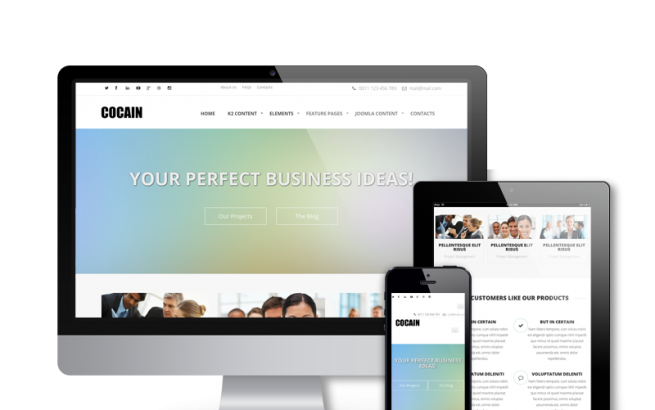 Joomla Template: Cocain - For Business and Agencies