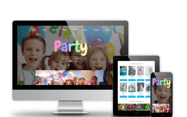 Joomla Template: Party - Joomla Kids template