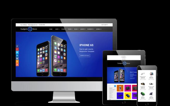 Joomla Template: Gadgets Store - Virtuemart Joomla template