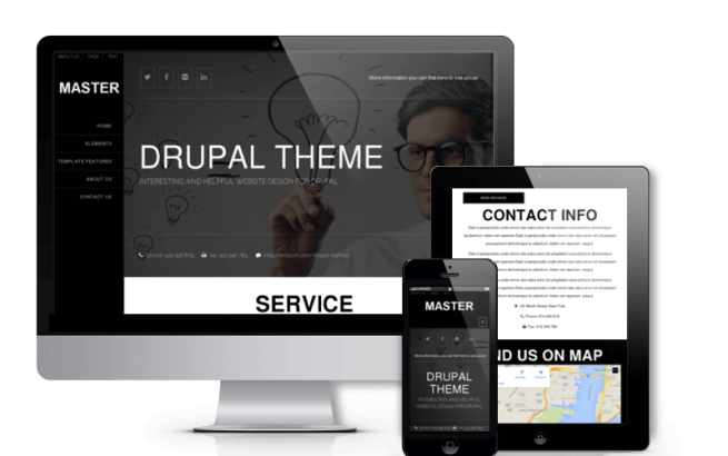 Drupal Theme: Master - Free Drupal Responsive Theme