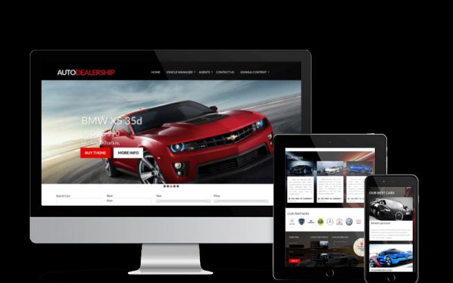 Joomla Template: Auto Dealership - Car Joomla Template
