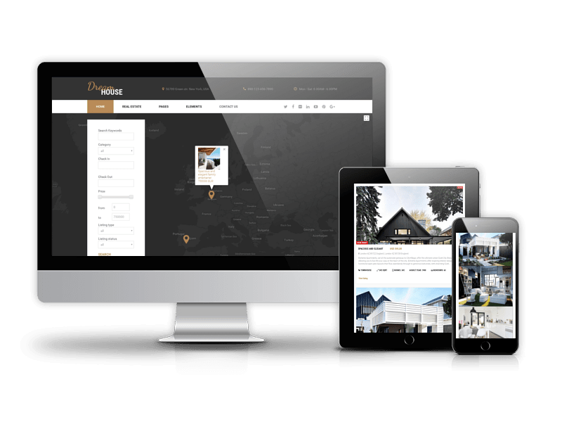 Joomla Template: Dream House - Real Estate Joomla template