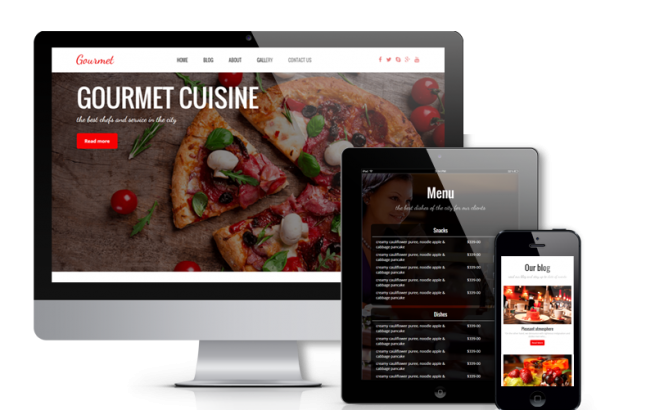 Wordpress Theme: Gourmet - WordPress Restaurant Theme