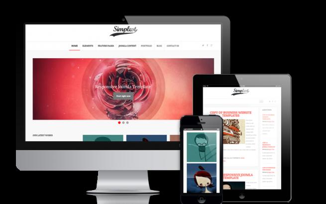 Joomla Template: Simplest - Joomla  Blog Template