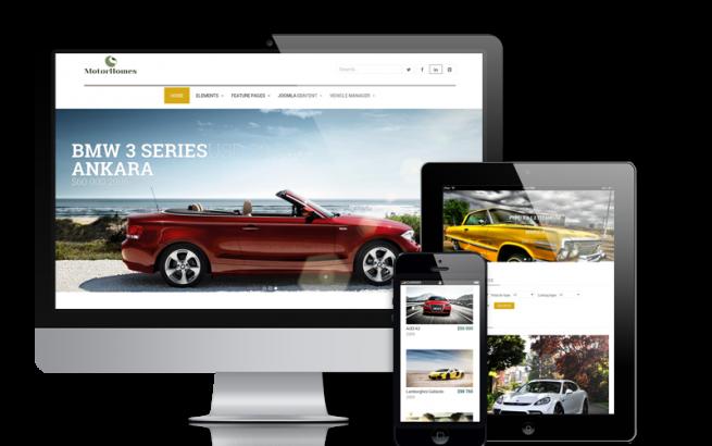 Joomla Template: Motor Homes - Car  Dealer Website Design