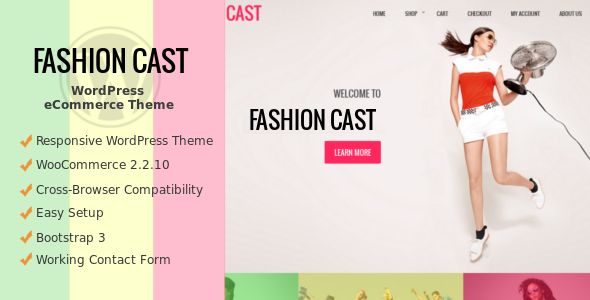 Wordpress Theme: Fashion Cast - WooCommerce  WordPress Theme
