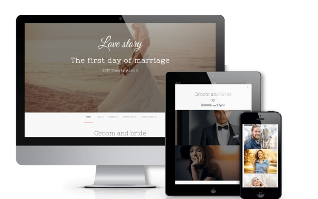 Joomla Template: Love Story - Joomla  Wedding Template