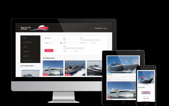Joomla Template: Boats - Yacht Marine Joomla Template