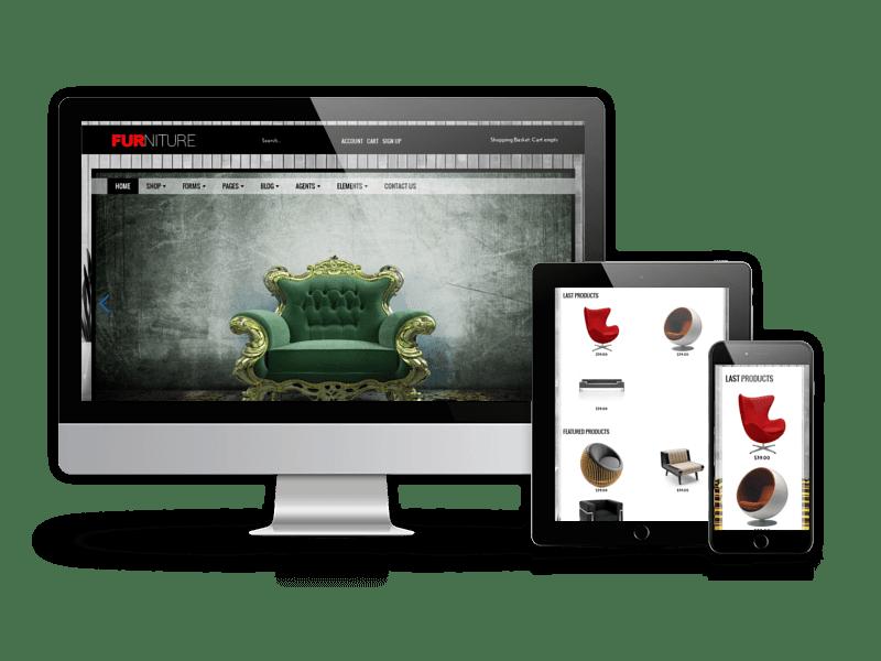 Joomla Template: Furniture - Joomla Virtuemart Template