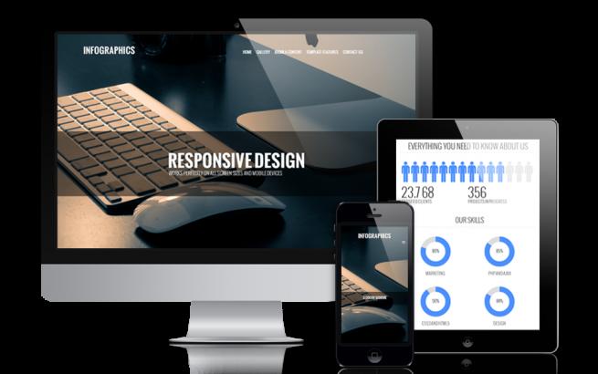 Joomla Template: Infographics - Modern Portfolio Joomla Template