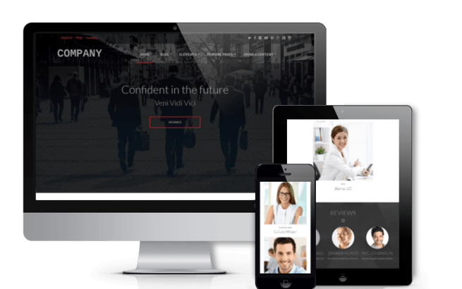 Joomla Template: Company - Business Joomla template