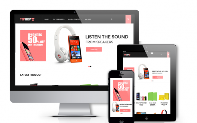 Joomla Template: TopShop, Virtuemart template