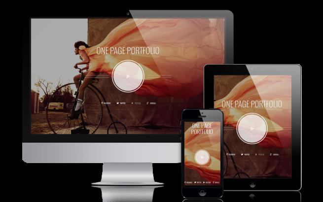 Joomla Template: Photographer One Page Joomla Portfolio template