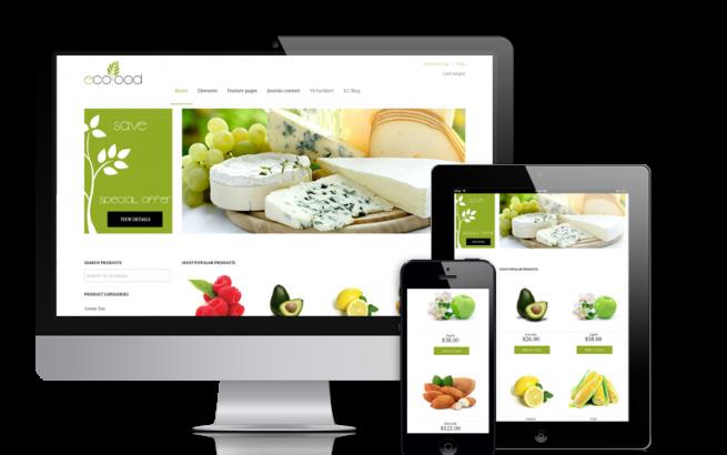 Joomla Template: EcoFood - VirtueMart 3 template