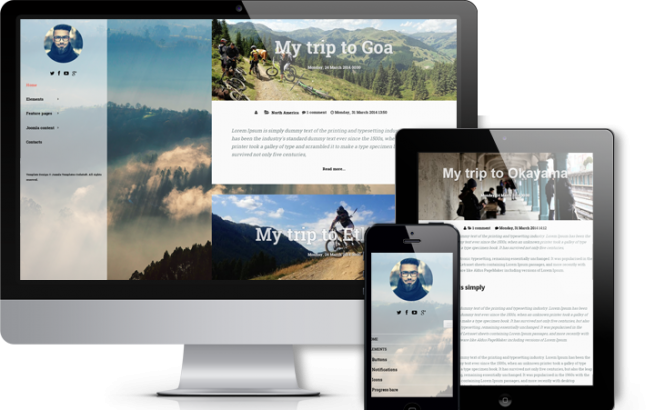 Joomla Template: Traveler - Modern Joomla Blog Template