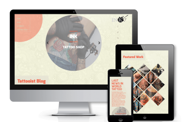 Wordpress Theme: Ink - Tattoo Salon WordPress Theme
