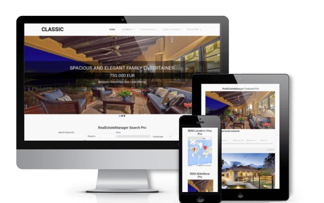 Joomla Template: Classic - Real Estate  Joomla template