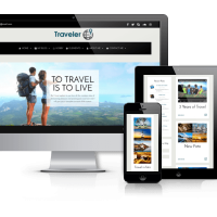 Wordpress Free Theme - Traveler - Free WordPress Blog Theme