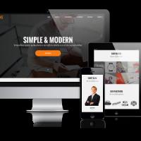 admin Wordpress Theme: BizOne -  One Page Wordpress Theme