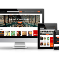 Joomla Premium Template - Amazon Digital Library Website Template