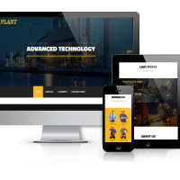 Wordpress Premium Theme - Plant - Industrial WordPress theme