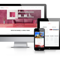 Joomla Premium Template - Real Estate Broker - real  estate website design