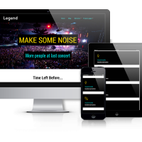 Joomla Premium Template - Legend - Joomla Event Template