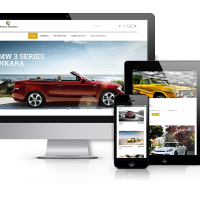 Joomla Premium Template - Motor Homes - Car  Dealer Website Design