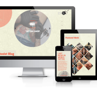 Wordpress Premium Theme - Ink - Tattoo Salon WordPress Theme