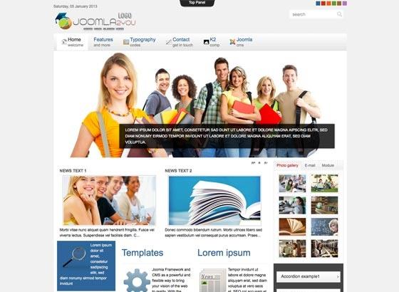 Joomla Template: Ju_joomla47 - responsive template
