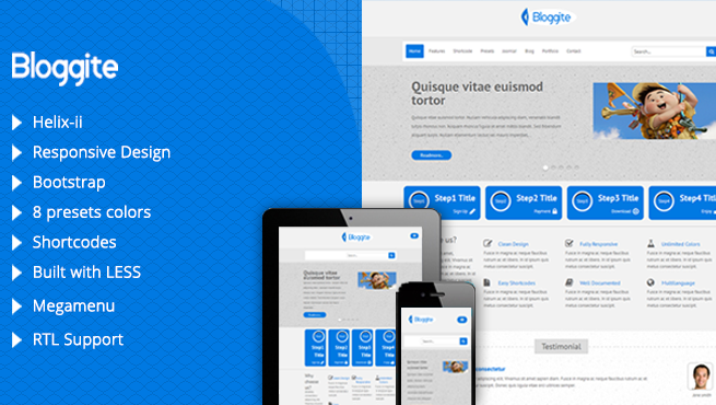 Joomla Template: TM Bloggite - Responsive Business Joomla Template