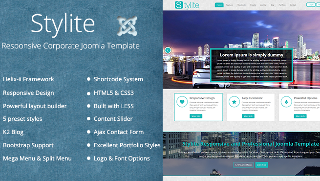 Joomla Template: TM Stylite - Responsive Joomla Template