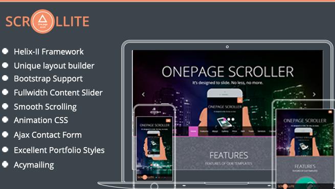 Joomla Template: TM Scrollite - Responsive Joomla Onepage Template